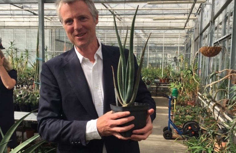 Zac Goldsmith MP combating the illegal trade of wildlife with Kew Gardens
