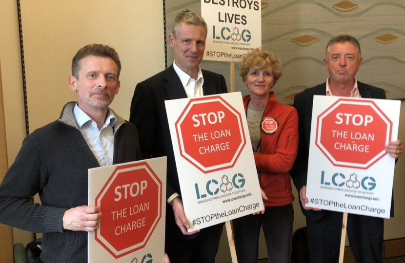 Zac Goldsmith MP meets campaigners in Parliament to discuss the 2019 Loan Charge