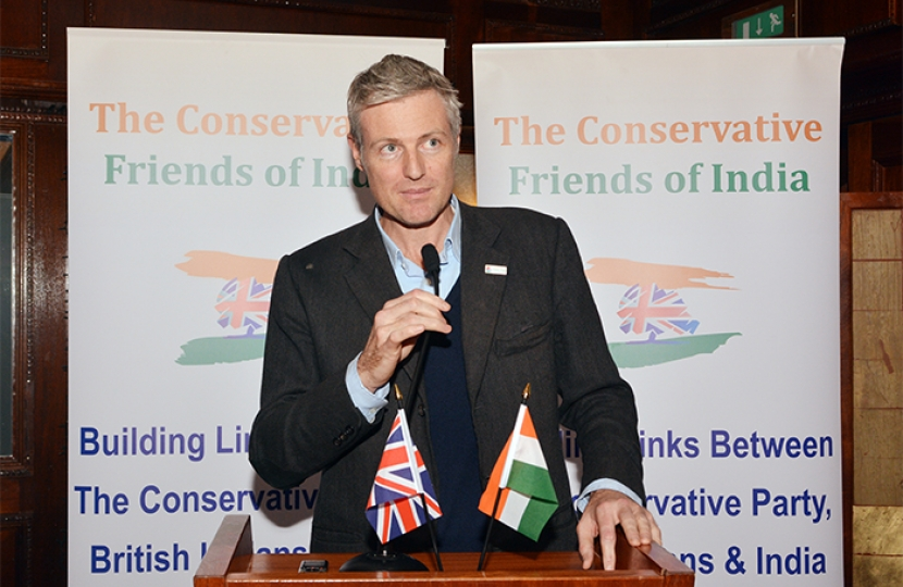 Zac Goldsmith MP at Conservative Friends of India